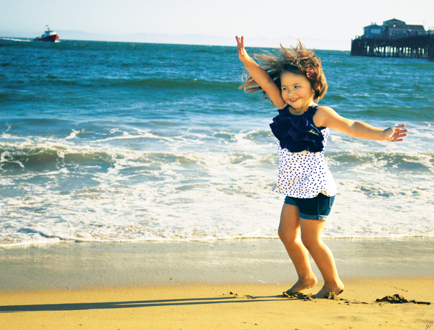 Ella Dancing in Seal Beach