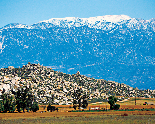 Snow on the San Bernardino mountains