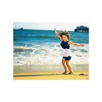 Ella Dancing on the beach in Seal Beach