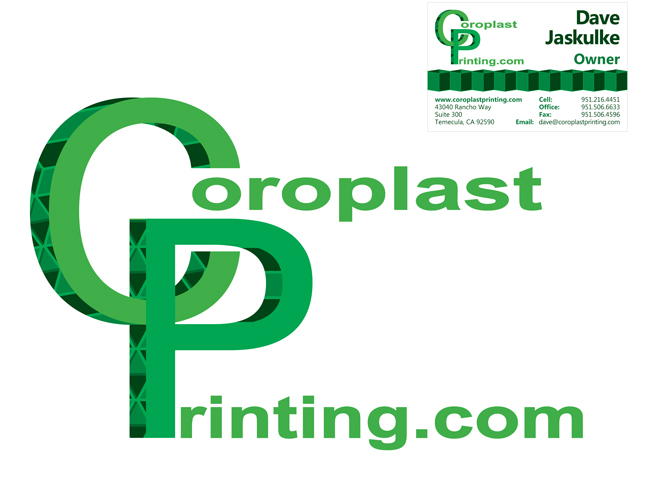 Coroplast Printing Logo and Business Card Design 2