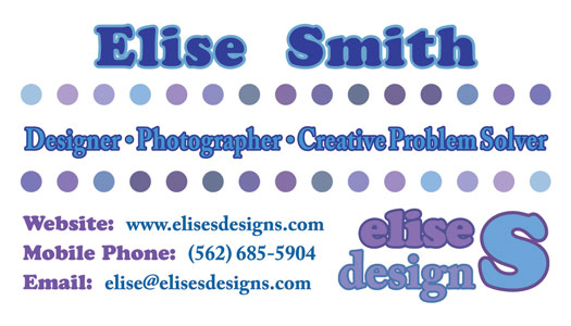 EliseS Designs Business Card