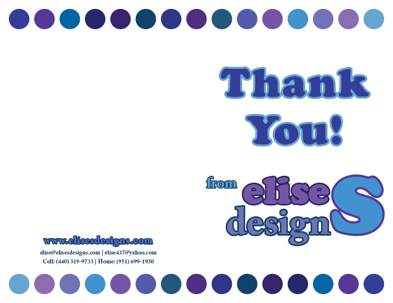 EliseS Designs Thank You Cards