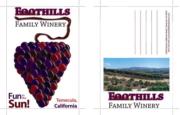 Foothills Winery Postcards