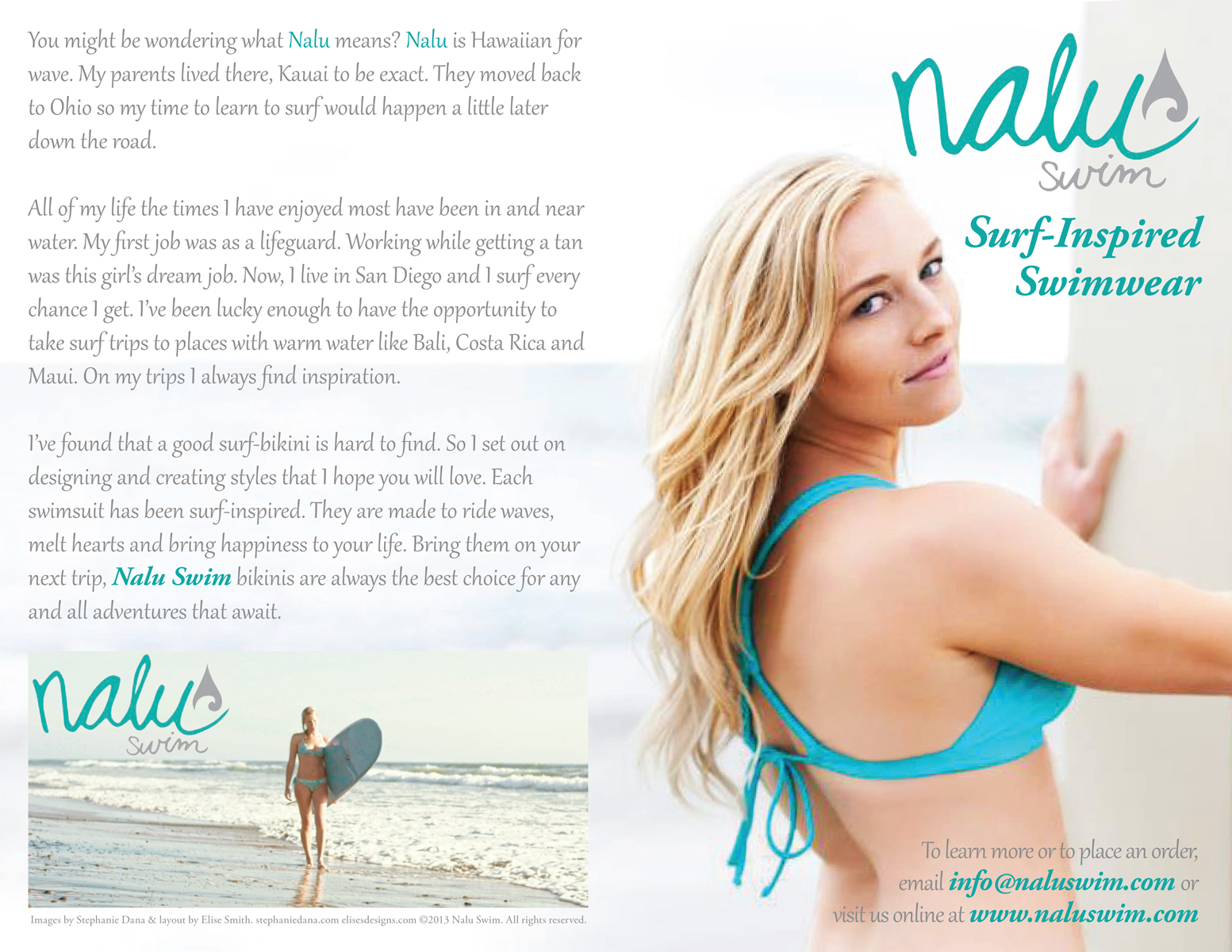 Nalu Swim Brochure Back