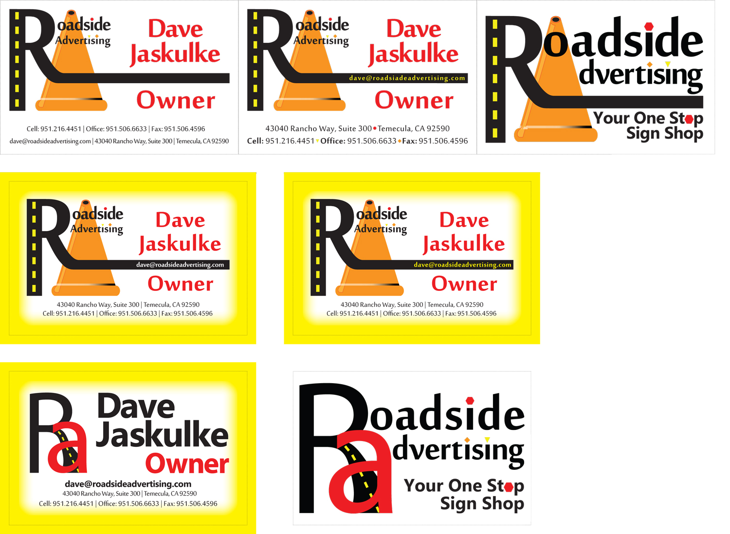 Roadside Advertising Business Cards