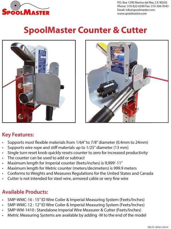 SpoolMaster Cut Sheets